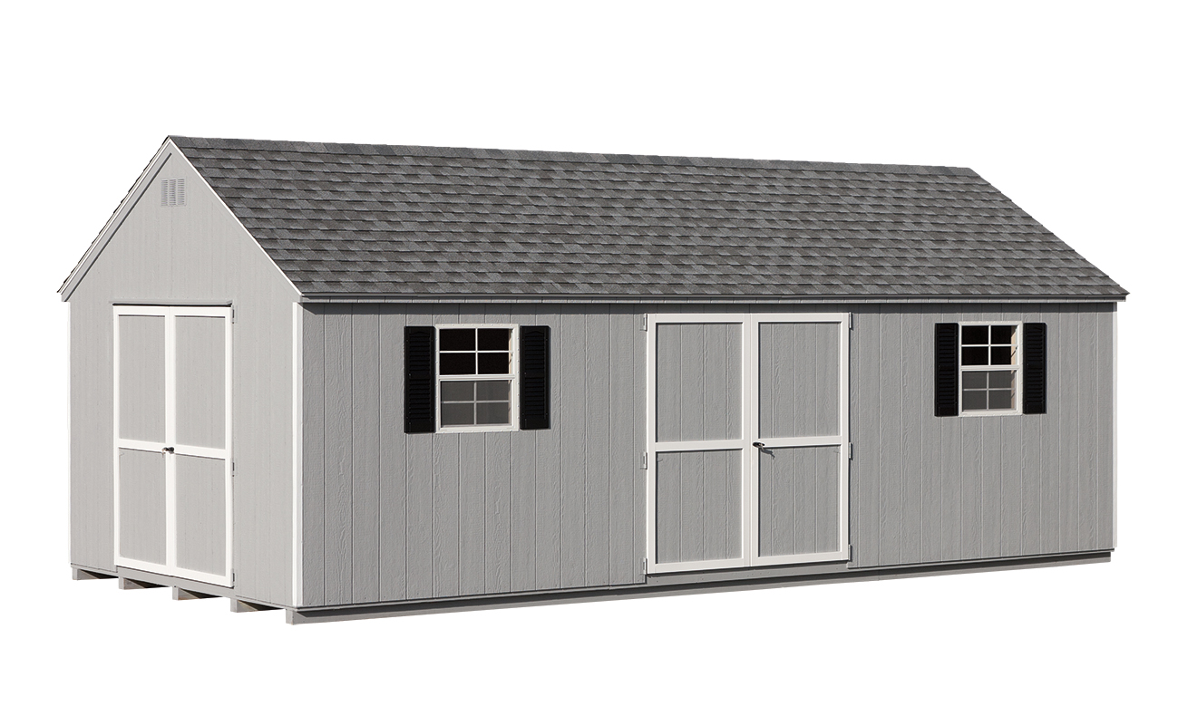 12 x24 economy a frame amish sheds from bob foote. Black Bedroom Furniture Sets. Home Design Ideas