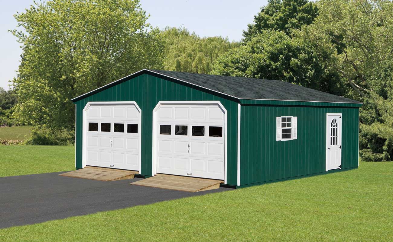 24 X24 Double Wide Garage Amish Sheds From Bob Foote