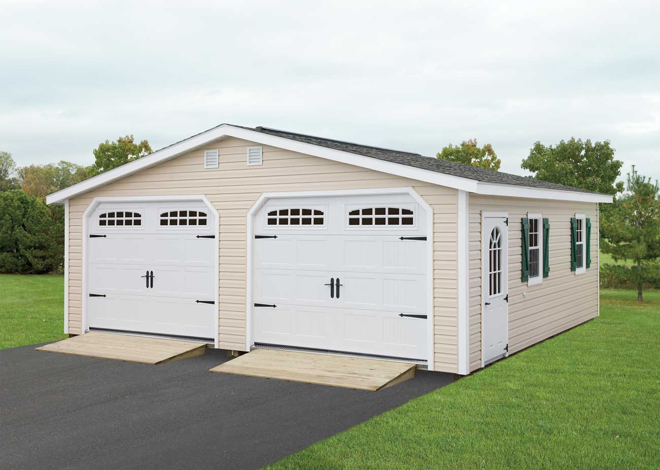 24 x24 double wide mansion garage amish sheds from bob for 24 by 24 garage