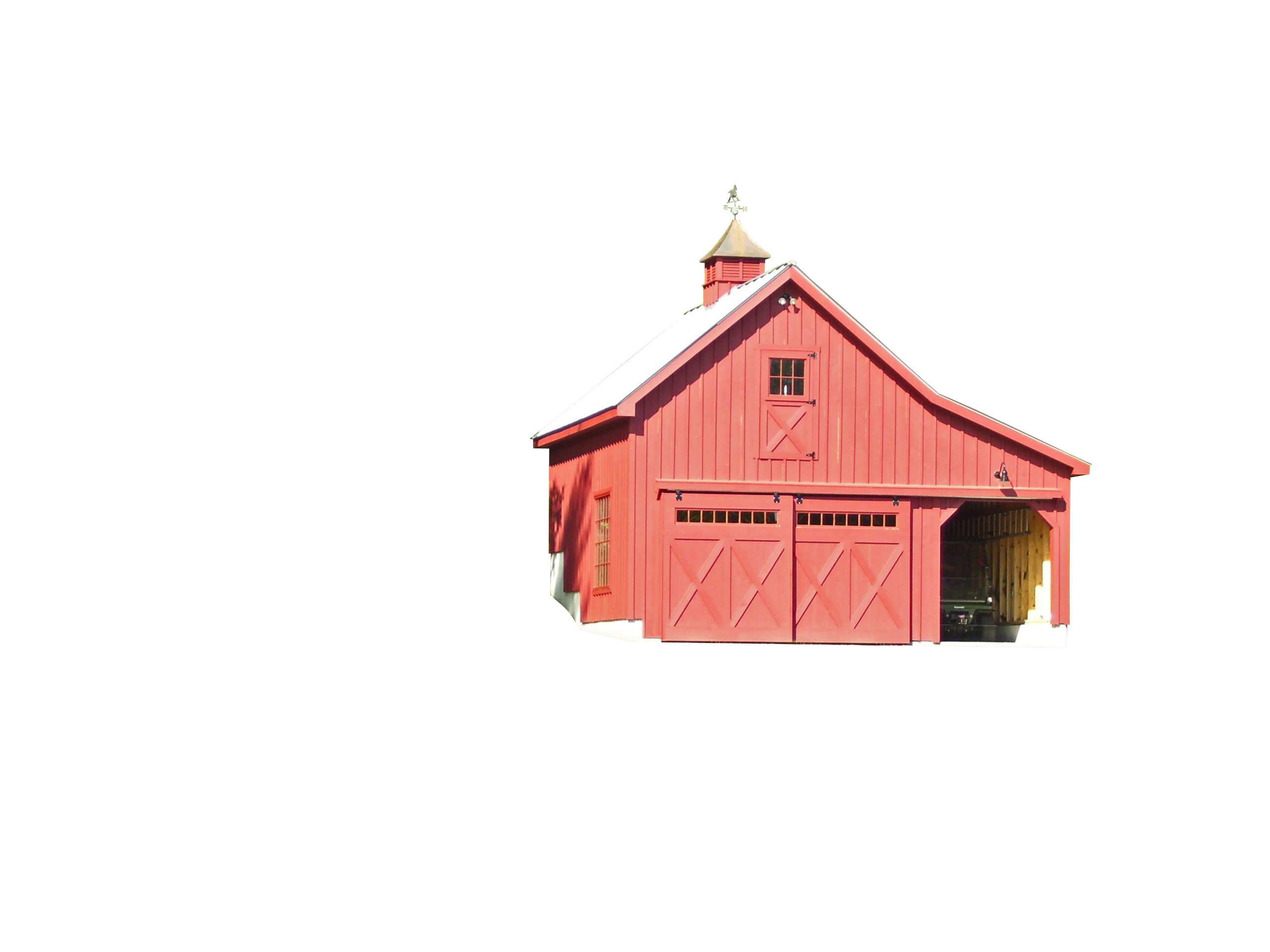 Modular horse barns amish sheds from bob foote for Lean to barn
