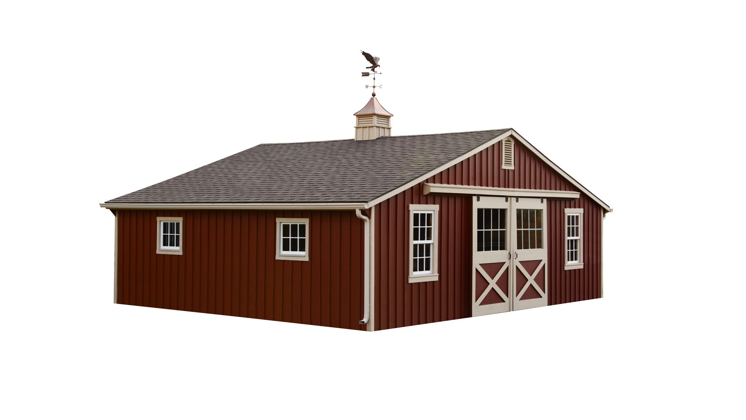story barn hillside structures amish barns two horse modular