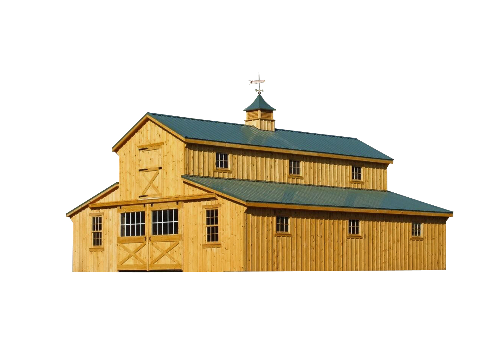 Modular horse barns amish sheds from bob foote for Shed cupola