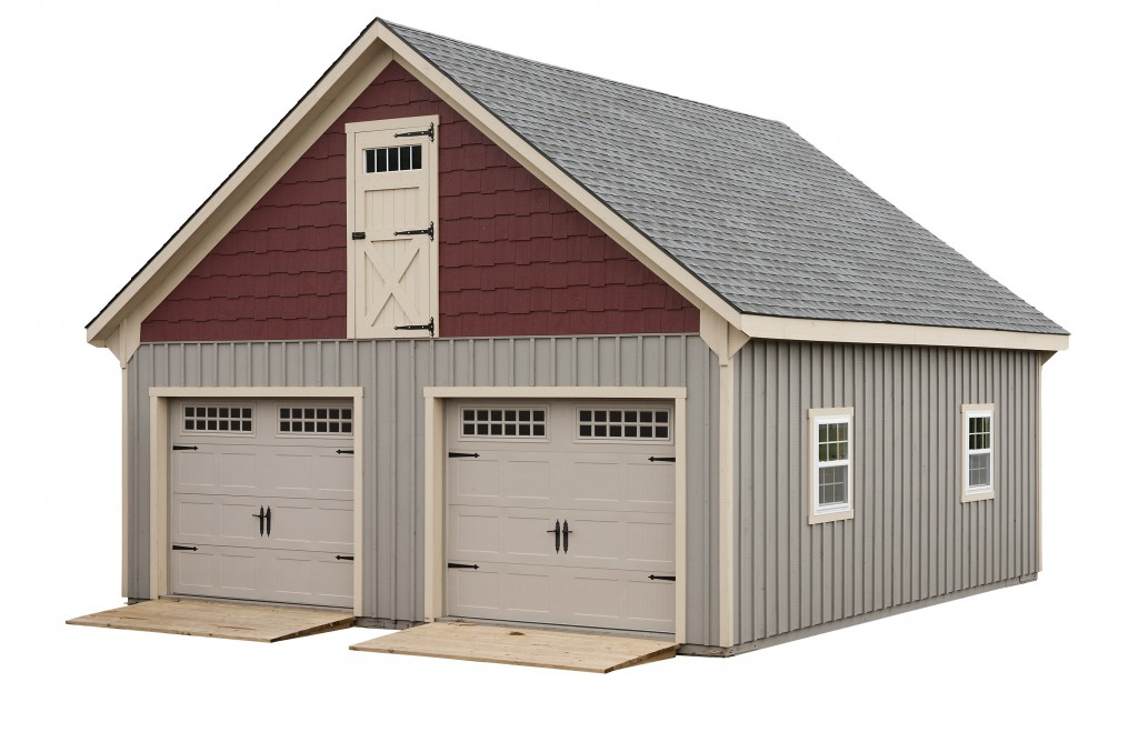 20 x 24 two story double wide garage amish sheds from for 20 x 24 garage plans with loft