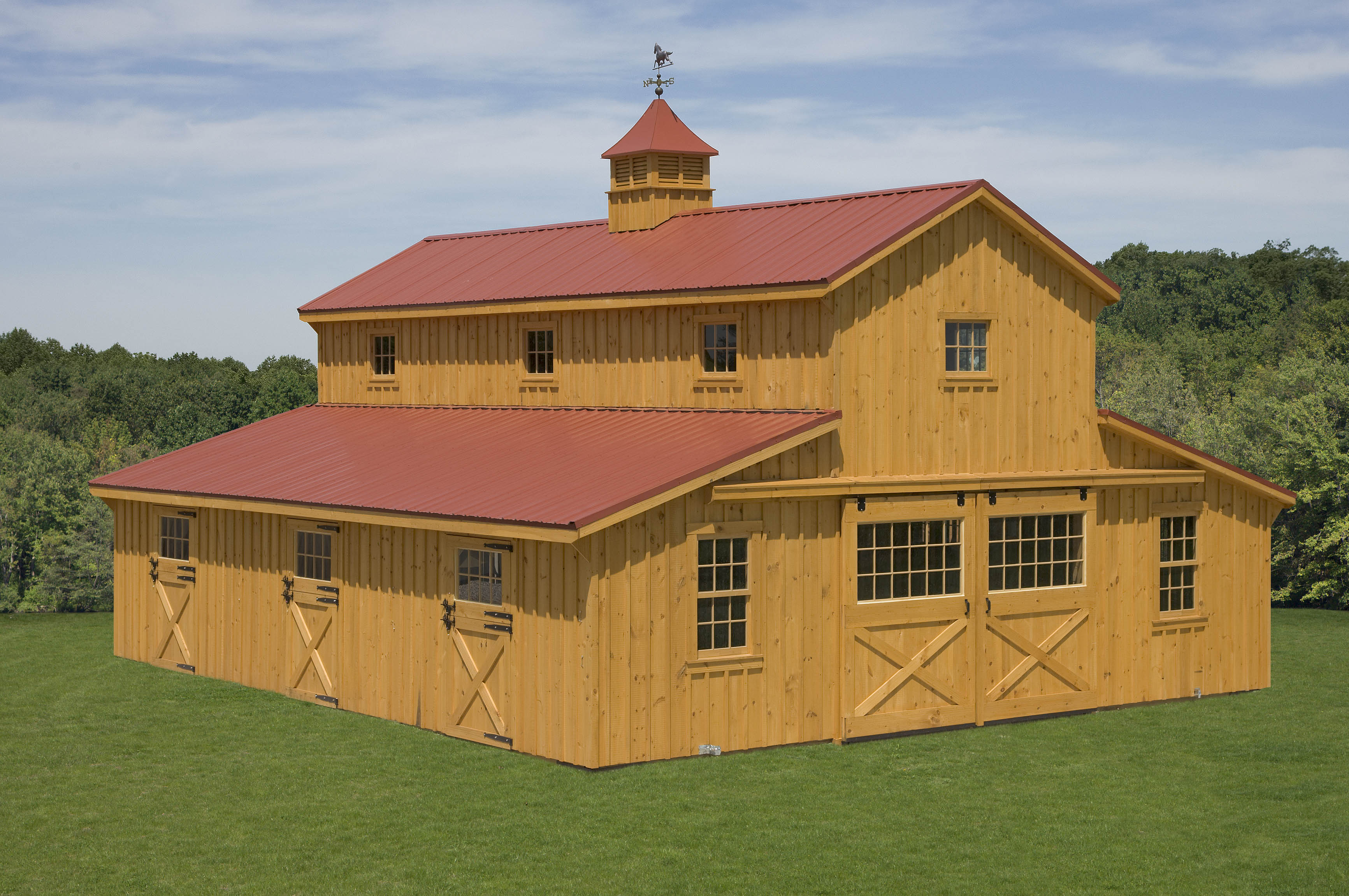Modular Horse Barns Amish Sheds From Bob Foote