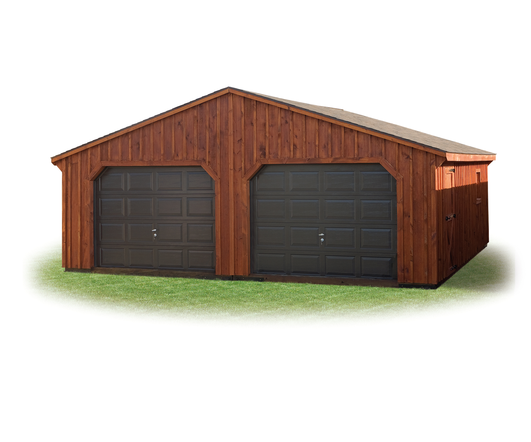 24 x 24 double wide garage amish sheds from bob foote for 10 wide garage door