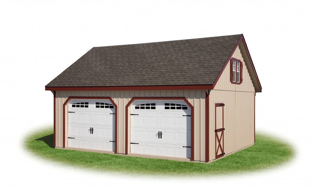20' x 24' Double-Wide Two-Story Garage