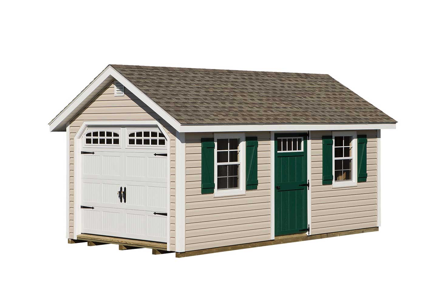10 x18 mansion garage amish sheds from bob foote for 18 x 10 garage door