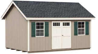Shown with optional end vents Clay • Navajo White Trim • Black Roof green Shutters