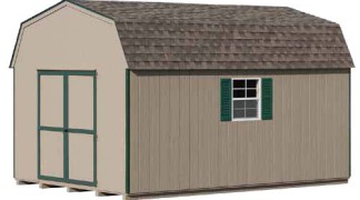 Shown in Clay • Green Trim • Weatherwood Roof