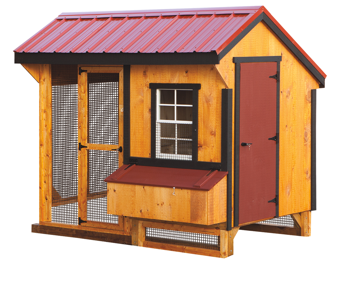 5 x 8 quaker amish sheds from bob foote for Chicken coop for 8 10 chickens