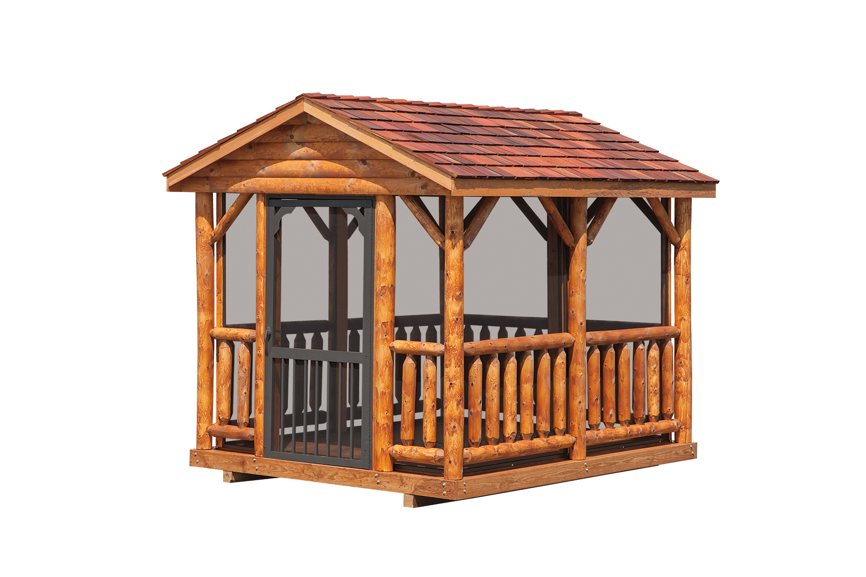 8 x 10 log gazebo amish sheds from bob foote for Rustic gazebo kits