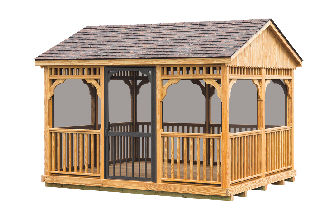 10 X12 Wood Gazebo 171 Amish Sheds From Bob Foote
